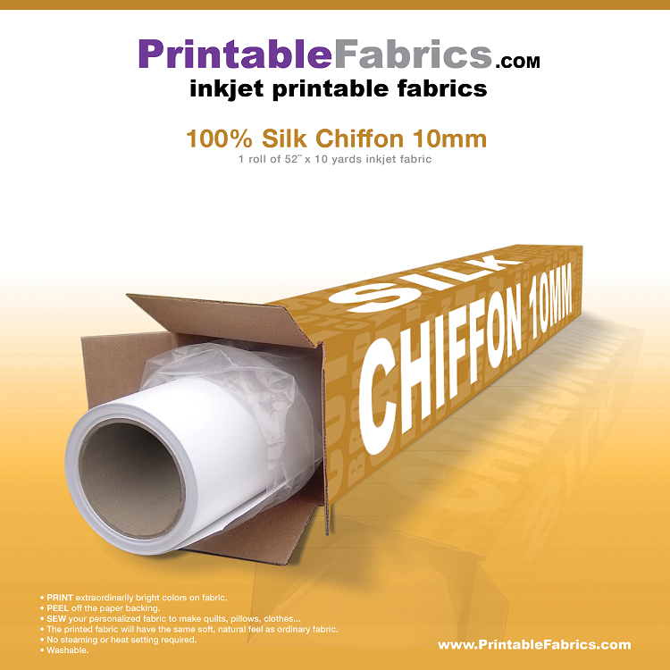 picture relating to Printable Silk Fabric identified as Silk Chiffon 10mm inkjet material - 50