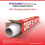 Silk Crepe de Chine 23mm inkjet fabric - 50