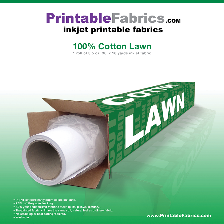 photo about Printable Fabric Roll titled Cotton Property inkjet material - 36